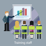 Training staff. People in the Hall and a Lecturer Royalty Free Stock Photo