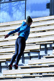 Training on stairs royalty free stock photo