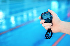 Training in the swimming pool Royalty Free Stock Photos