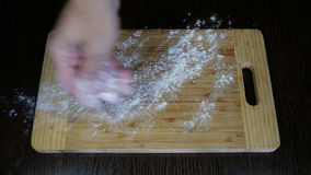 Training table for dough stock footage