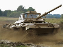 Training tank in action Royalty Free Stock Image