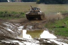 Training tank speeding Stock Images