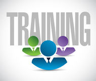 Training team sign illustration design graphic Royalty Free Stock Photos