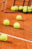 Training tennis balls Royalty Free Stock Image