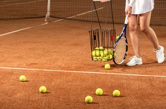 Training tennis equipment Royalty Free Stock Photos