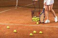 Training tennis equipment Royalty Free Stock Photos