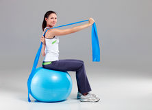 Training with Theraband 13 royalty free stock photos