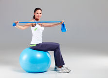 Training with Theraband 10 Royalty Free Stock Photography
