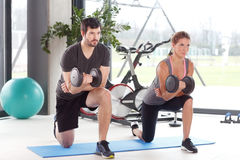 Training together at fitness class Stock Photo