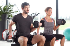 Training together at fitness class Stock Photos