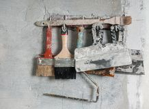 Training tool plasterer - painter Royalty Free Stock Photo