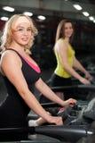 Training on treadmill Royalty Free Stock Photo
