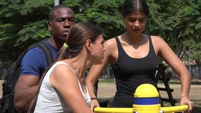 Training And Using Exercise Equipment. Stock video in 4k or HD resolution stock video