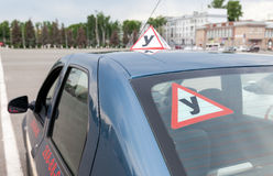 Training vehicle of a russian driving school in Samara Royalty Free Stock Image