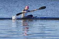 Training von Athleten im Rudersport stockfoto