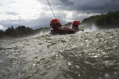 Training on water Stock Images