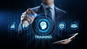 Training webinar Business development education concept on screen. stock photography
