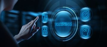 Training Webinar E-learning Skills Business Internet Concept.  stock images