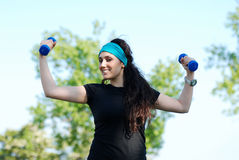 Training with weights Royalty Free Stock Photos