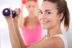 Training with weights Stock Photography