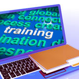 Training Word Cloud Laptop Means Education Development And Learn Stock Image