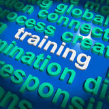 Training Word Cloud Means Education Development And Learning Stock Photos