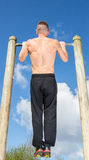 Training workout pullups Royalty Free Stock Photography