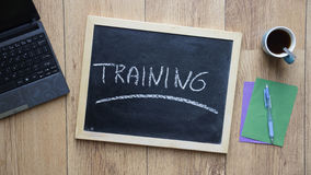 Training written Stock Photos