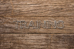 Training written on wooden background Royalty Free Stock Images