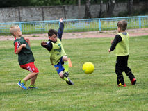 Training young players Stock Photos