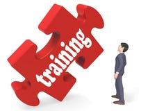 Training zeigt der Ausbildungs-Lernen-und Entwicklungs-3d Wiedergabe stockbilder