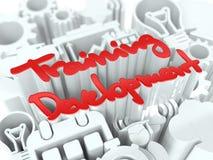 Trainings-Konzept auf weißem Hintergrund. Lizenzfreies Stockfoto