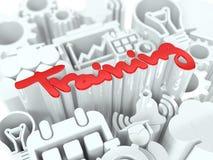 Trainings-Konzept auf weißem Hintergrund. Stockfoto