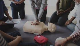 Trainings-Konzept CPR-erster Hilfe lizenzfreie stockfotografie