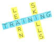 Trainings-Kreuzworträtsel Lizenzfreie Stockfotos
