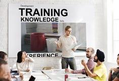 Trainings-Wissens-Fähigkeits-Erfahrungs-Schale fasst Konzept ab Stockfoto