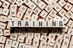 Trainings-Wort-Konzept lizenzfreie stockfotos
