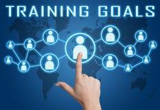 Trainings-Ziele Stockfoto