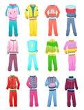 Trainingsanzüge für kleine Mädchen Lizenzfreies Stockbild