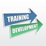 Trainingsentwicklung in den Pfeilen, flaches Design Lizenzfreie Stockfotos