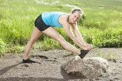 Trainingsfrau Lizenzfreie Stockfotografie