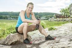 Trainingsfrau Lizenzfreie Stockfotos