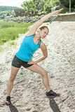 Trainingsfrau Stockfoto