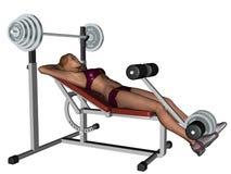 Trainingsfrau auf Übung Stockfotografie