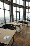 Trainingsklasse mit großen panoramischen Fenstern lizenzfreies stockfoto