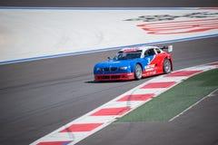 Trainingsrennen des Hochgeschwindigkeitsautos Stockfotografie