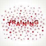 Trainingswort mit in Alphabeten Lizenzfreie Stockbilder