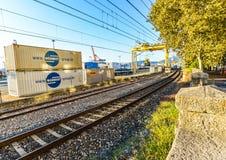 Trainline à Vigo - en Espagne image libre de droits