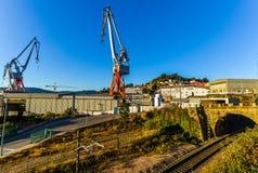 Trainline - Vigo - la Galicie - l'Espagne photo stock