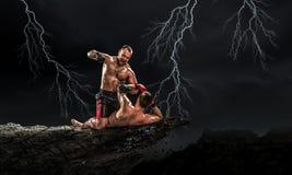 Trainning бойцов коробки внешний Мультимедиа Мультимедиа Стоковые Изображения
